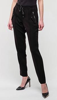 Черные брюки Bogner на резинке, фото