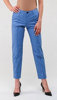 Голубые зауженные брюки Bogner, фото
