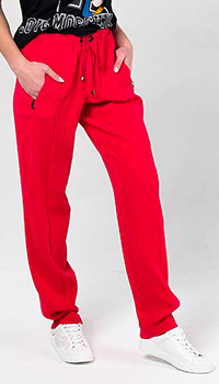 Широкие брюки Bogner красного цвета, фото