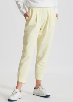 Хлопковые брюки Max Mara Leisure Bric на резинке, фото