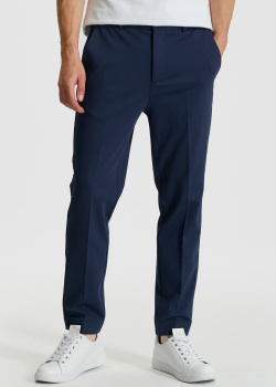 Синие брюки Bikkembergs со стрелками, фото