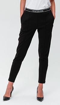 Укороченные брюки Calvin Klein Jeans черного цвета, фото