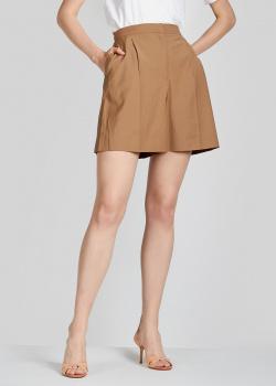 Коричневые шорты Alexa Chung с карманами, фото