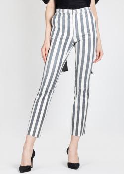 Кожаные брюки Drome в крупную полоску, фото