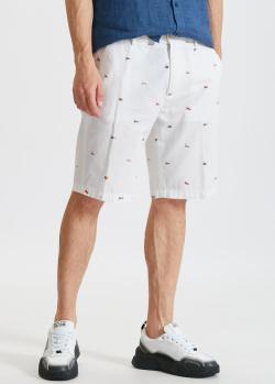 Белые шорты Paul&Shark с мини-флагами, фото