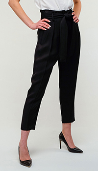 Черные брюки Elisabetta Franchi укороченные, фото