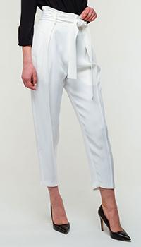 Белые брюки Elisabetta Franchi со стрелками, фото