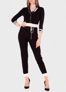 Трикотажный комбинезон Elisabetta Franchi черного цвета, фото