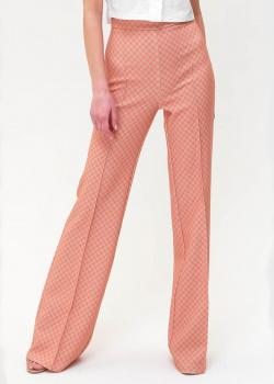 Расклешенные брюки Elisabetta Franchi с брендовым принтом, фото