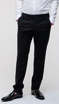 Шерстяные брюки Emporio Armani черного цвета, фото