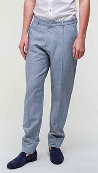 Серые брюки Emporio Armani прямого кроя, фото