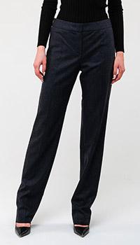Классические брюки Emporio Armani темно-серого цвета, фото