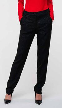 Классические брюки Emporio Armani с люрексовой нитью, фото