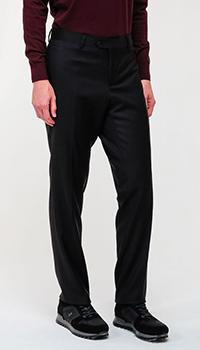Шерстяные брюки Emporio Armani черные, фото