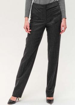 Шерстяные брюки Emporio Armani серого цвета, фото