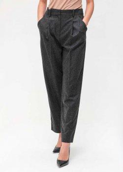 Серые брюки Emporio Armani с защипами, фото
