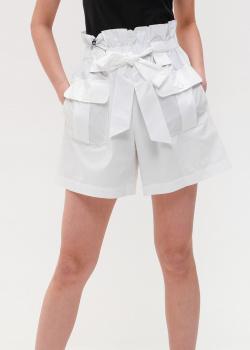Белые шорты Emporio Armani с высокой талией, фото