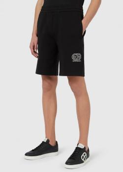 Черные шорты Emporio Armani с логотипом, фото