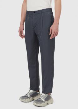 Серые брюки Emporio Armani с эластичным поясом, фото