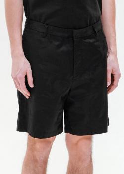 Льняные шорты Emporio Armani в черном цвете, фото