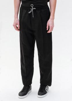 Льняные брюки Emporio Armani черного цвета, фото