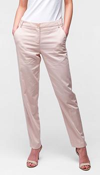 Брюки Emporio Armani из хлопка розового цвета, фото