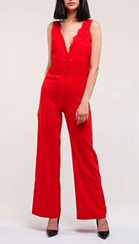 Красный комбинезон Ermanno Ermanno Scervino с широкими брюками, фото