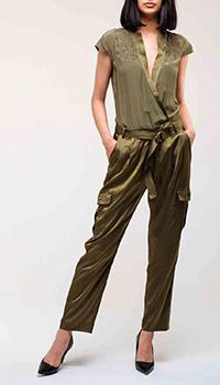 Комбинезон цвета хаки Ermanno Ermanno Scervino с накладными карманами, фото