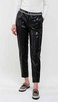 Черные брюки Ermanno Ermanno Scervino на резинке, фото