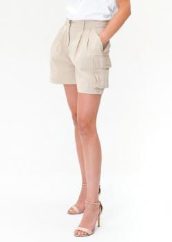 Бежевые шорты Ermanno Ermanno Scervino с накладными карманами, фото