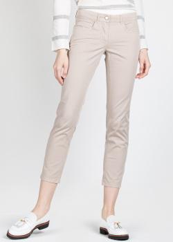 Укороченные брюки Fabiana Filippi бежевого цвета, фото
