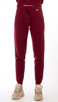 Кашемировые брюки GD Cashmere бордового цвета, фото