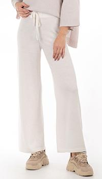 Широкие брюки GD Cashmere белого цвета, фото