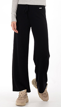 Черные брюки GD Cashmere из мериносовой шерсти, фото