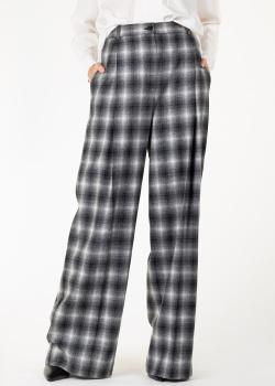 Шерстяные брюки Nina Ricci в клетку, фото