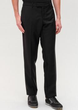 Шерстяные брюки Giorgio Armani серого цвета, фото