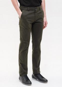 Прямые брюки Hugo Boss цвета хаки, фото