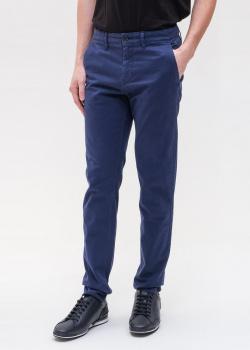 Мужские брюки Hugo Boss синего цвета, фото