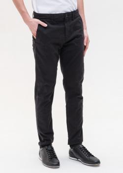 Черные брюки Hugo Boss зауженного кроя, фото