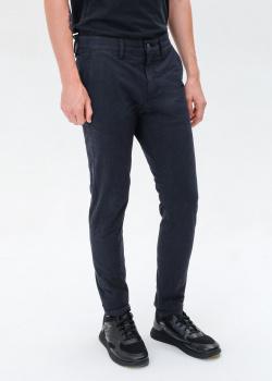 Зауженные брюки Hugo Boss синего цвета, фото