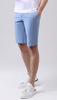 Хлопковые шорты Hugo Boss голубого цвета, фото
