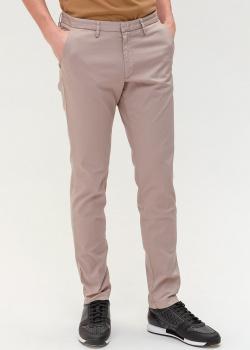 Зауженные брюки Hugo Boss бежевого цвета, фото