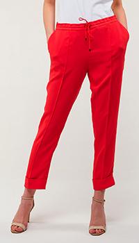 Красные брюки Kenzo на резинке, фото