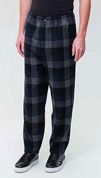 Шерстяные брюки Kenzo в крупную клетку, фото