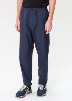 Синие брюки Kenzo с фирменной нашивкой, фото