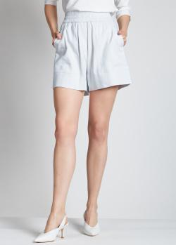 Голубые шорты Lorena Antoniazzi с лампасами, фото