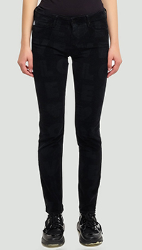 Вельветовые брюки Love Moschino черного цвета, фото
