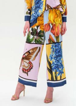 Шелковые брюки Max Mara Weekend с принтом, фото