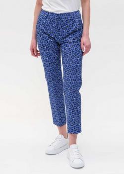 Синие брюки Max Mara Weekend с принтом, фото