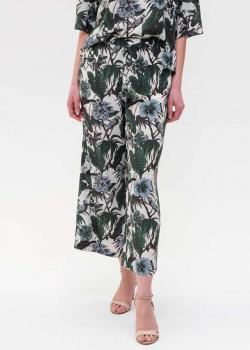 Шелковые брюки Max Mara Weekend с цветочным принтом, фото